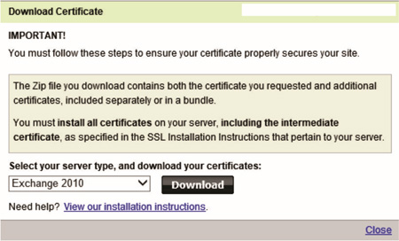 Steve Hardie » How To: Renew a GoDaddy Exchange 2010 SSL Certificate